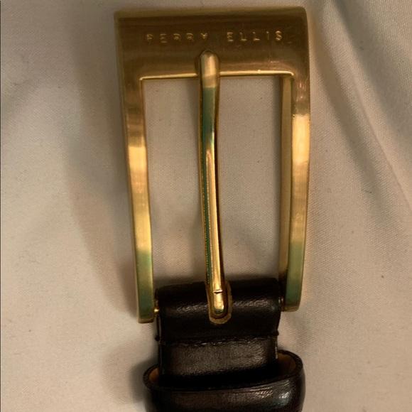 Perry Ellis Accessories - Perry Ellis dark brown and gold women's belt